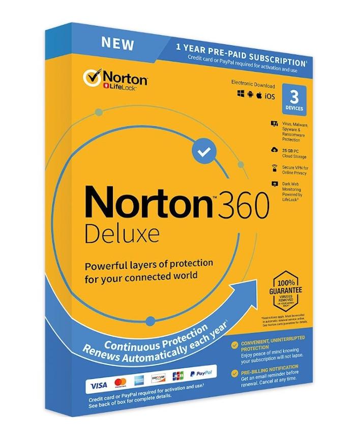 Norton 360 Deluxe 3-5 devices