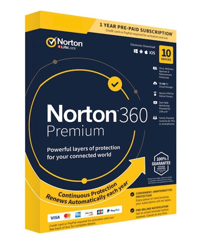 Norton 360 Premium, 10 devices