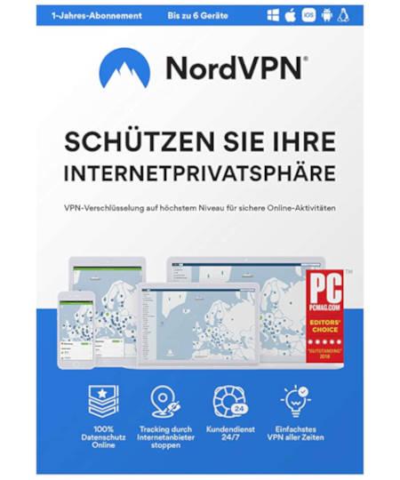 NordVPN 1 Jahr 6 Devices